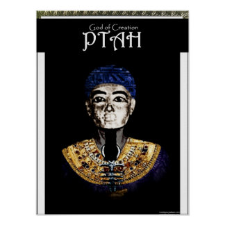 God of Creation- Ptah Poster