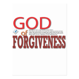 GOD of Forgiveness Postcard