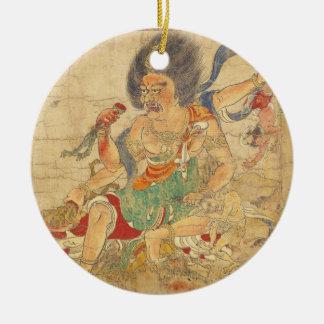 God of Heavenly Punishment Extermination of Evil Ceramic Ornament