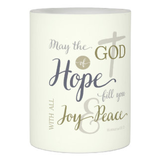 God of Hope Fill You with Joy & Peace Flameless Candle