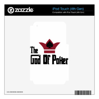 God Of Poker iPod Touch 4G Decals