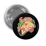 God of Tacos Pinback Button