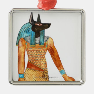 God of the Dead Square Metal Christmas Ornament
