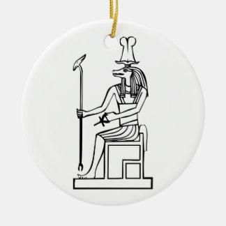 God of water, Egyptian hieroglyph Ceramic Ornament