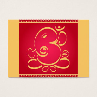 God Om Ganesha on red Business Card