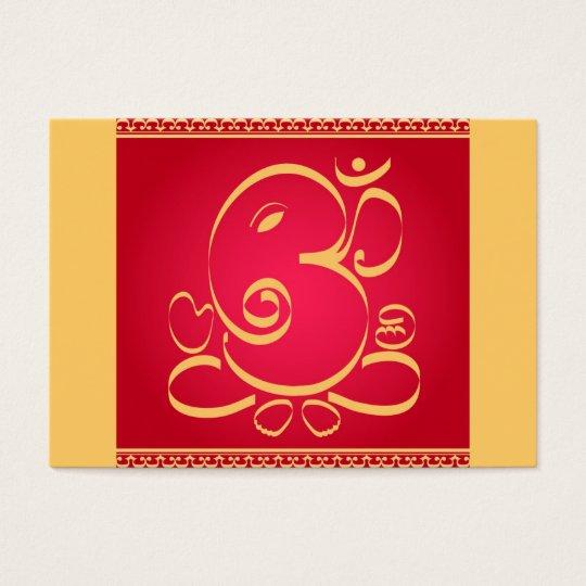 God Om Ganesha on red Business Card