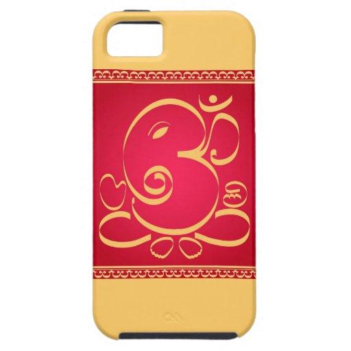 God  Om Ganesha on red iPhone 5 Case