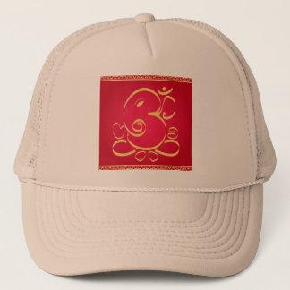 God  Om Ganesha on red Trucker Hat