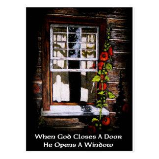 GOD OPENS A WINDOW / FINE ART POSTCARD