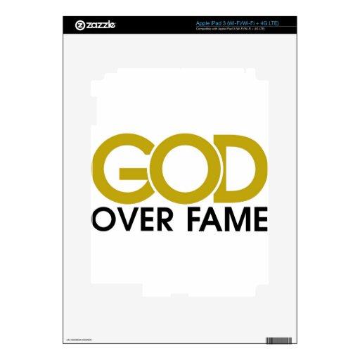 God Over Fame Merchandise iPad 3 Decals