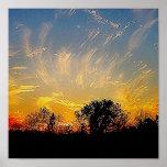 god paints the sky poster