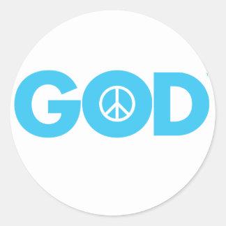 God Peace Stickers