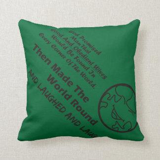 """God Promised Man"" Funny Cushion Throw Pillow"