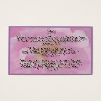 God Promises on Love Business Card