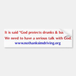 God Protects Car Bumper Sticker