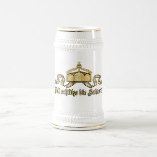 God protects the empress beer stein
