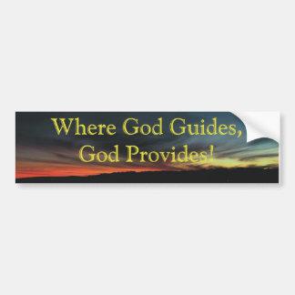 god-provides car bumper sticker