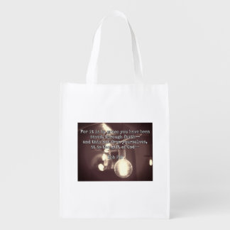 "God Quotes: Eph 2:8 -- ""Salvation by Grace"" Grocery Bag"