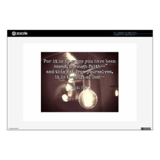 "God Quotes: Eph 2:8 -- ""Salvation by Grace"" 13"" Laptop Decals"