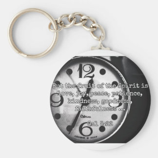 "God Quotes: Gal 5:22 -- ""Fruit of the Spirit"" Keychain"