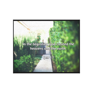 "God Quotes: Gen 1:1 -- ""In the Beginning"" Canvas Print"