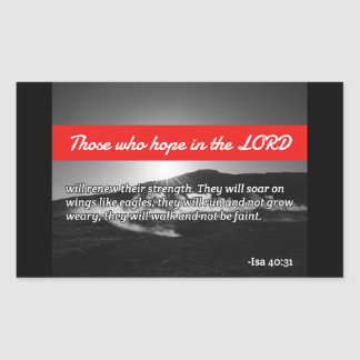 "God Quotes: Isaiah 40:31 -- ""Eagle's Wings"" Rectangular Sticker"