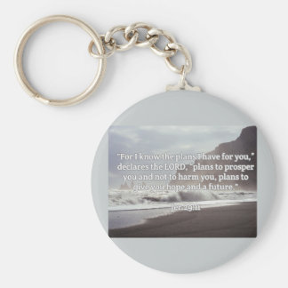 """God Quotes: Jer 29:11-- """"God's Plan For You"""" Keychain"""