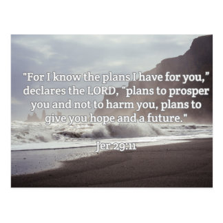 "God Quotes: Jer 29:11-- ""God's Plan For You"" Postcard"