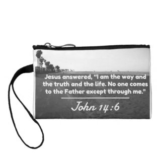 "God Quotes: John 14:6 -- ""The Way and the Truth"" Coin Purse"