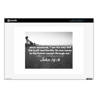"""God Quotes: John 14:6 -- """"The Way and the Truth"""" 13"""" Laptop Skin"""