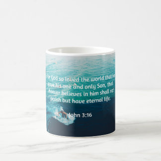 "God Quotes: John 3:16 -- ""For God Loved The World"" Coffee Mug"