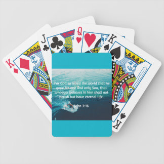 """God Quotes: John 3:16 -- """"For God Loved The World"""" Bicycle Playing Cards"""