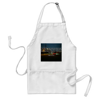 "God Quotes: Phil 4:8 -- ""Beware the Thief"" Adult Apron"