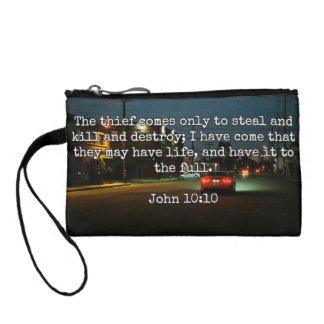 """God Quotes: Phil 4:8 -- """"Beware the Thief"""" Coin Wallet"""