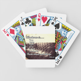 "God Quotes: Phil 4:8 -- ""Righteous and Pure"" Bicycle Playing Cards"