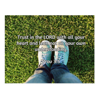 "God Quotes: Prov 3:5 -- ""Trust in the LORD"" Postcard"