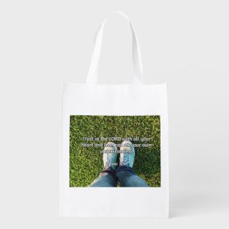 """God Quotes: Prov 3:5 -- """"Trust in the LORD"""" Market Totes"""