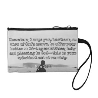 "God Quotes: Rom 12:1 -- ""Living Sacrifices"" Coin Wallet"