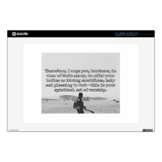 """God Quotes: Rom 12:1 -- """"Living Sacrifices"""" 13"""" Laptop Decal"""