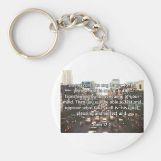 "God Quotes: Rom 12:2 -- ""Don't Conform"" Keychain"