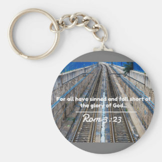 "God Quotes: Rom 3:23 -- ""All Have Sinned"" Keychain"