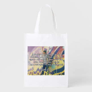 """God Quotes: Rom. 8:28 -- """"God Works For Good"""" Market Totes"""