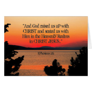 God raised us up with Christ Ephesians 2:6, Sunset Card