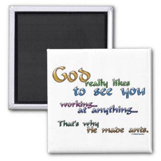 God really likes... fridge magnets