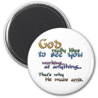 God really likes... refrigerator magnet