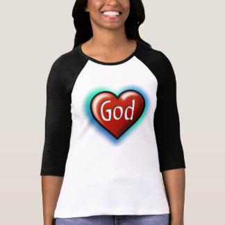 God Red Heart Shirt