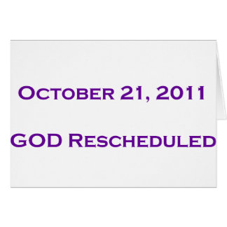 GOD Rescheduled! Card