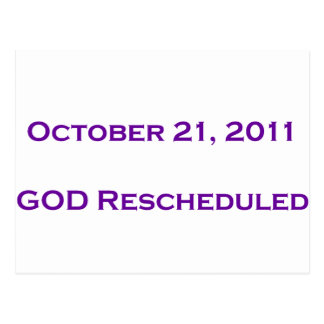 GOD Rescheduled! Postcard