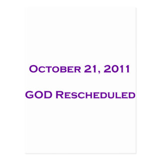 GOD Rescheduled Postcard