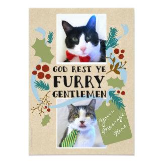 God Rest Ye Furry Gentlemen Pet Photos Card
